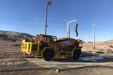 Putzmeister's Mixkret 6 underground concrete mixer successfully completes tests at Chuquicamata Underground