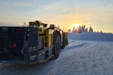 Boliden testing Epiroc battery-electric loader at Kristineberg