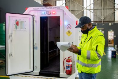 First South African-built Strata Worldwide ERCX refuge chambers head to gold mining customer
