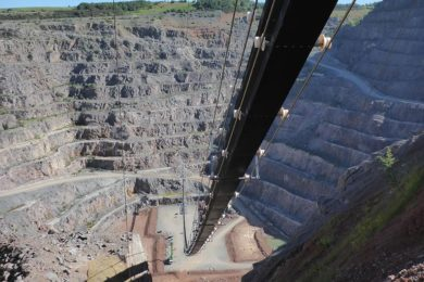 Bardon Hill quarry Doppelmayr high angle conveying project shows the technology's potential in pit backfill