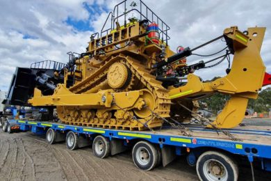 New Cat D11 dozer arrives at Stanwell's Meandu coal mine