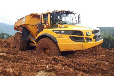 Volvo ADTs, excavators hit the ground running at Weda Bay nickel project