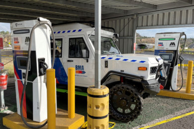 Tritium pioneers fast chargers for the mining industry in combination with Miller Technology's EVs