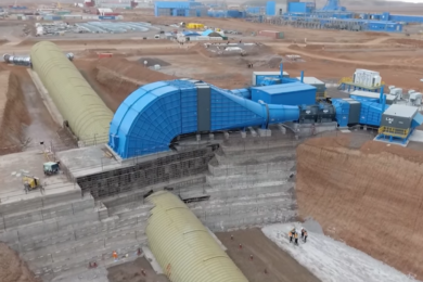 Oyu Tolgoi breaks through to underground with C2S project conveyor decline – combined with the hoist system it will give the mine a 95,000 t/d capacity