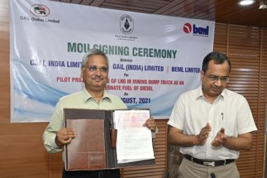 Coal India begins LNG-diesel mining truck dual fuel plans at MCL Lakhanpur working with BEML & GAIL