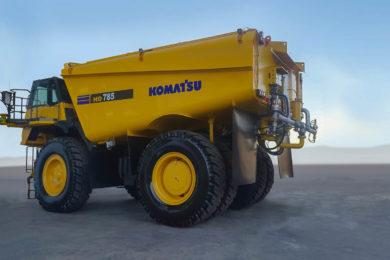 Komatsu introduces concept autonomous water truck