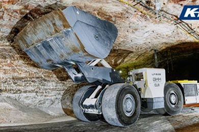 Underground salt and potash miner K+S Group trialling GHH LF-19EB cable & battery combination electric LHD
