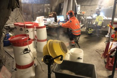 World's first trials in mineralogical measurements of high-speed drill cuttings