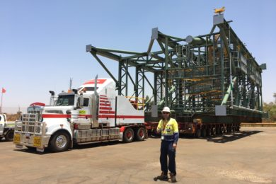 Mammoet delivers the goods at BHP's South Flank iron ore mine